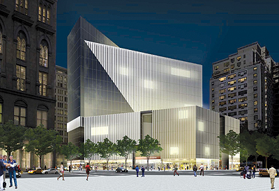 A rendering of the new building set to rise at 51 Astor Place.